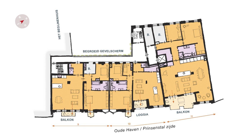 totaaloverzicht plattegrond loft26 tweede verdieping