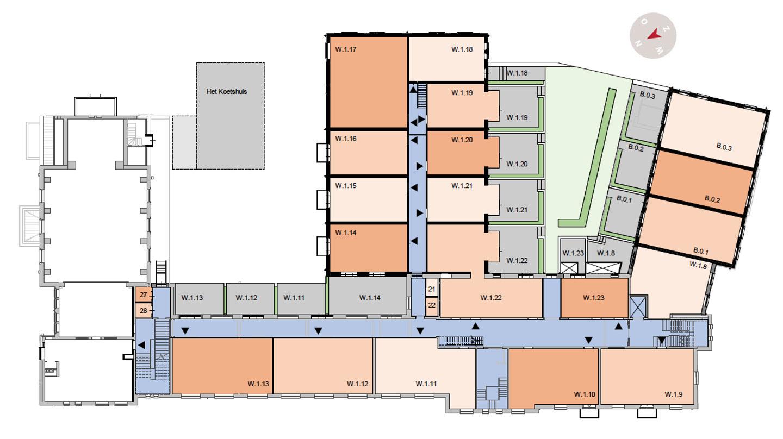 eerste verdieping De Wijnberg