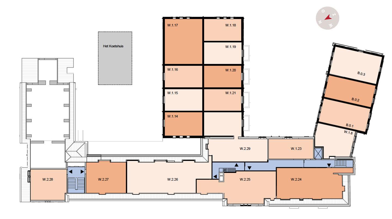 tweede verdieping De Wijnberg