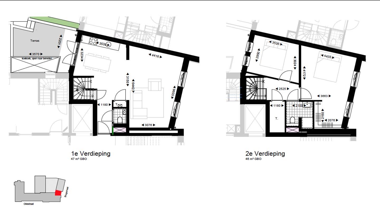 eerste en tweede verdieping koopwoning W1.8 De Wijnberg